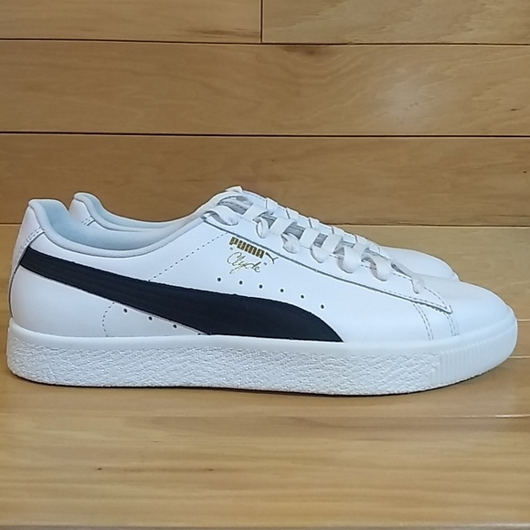 huge selection of 4804a c545d Puma Clyde White Black Gold Sz 11.5 Shoe Sneaker NWT